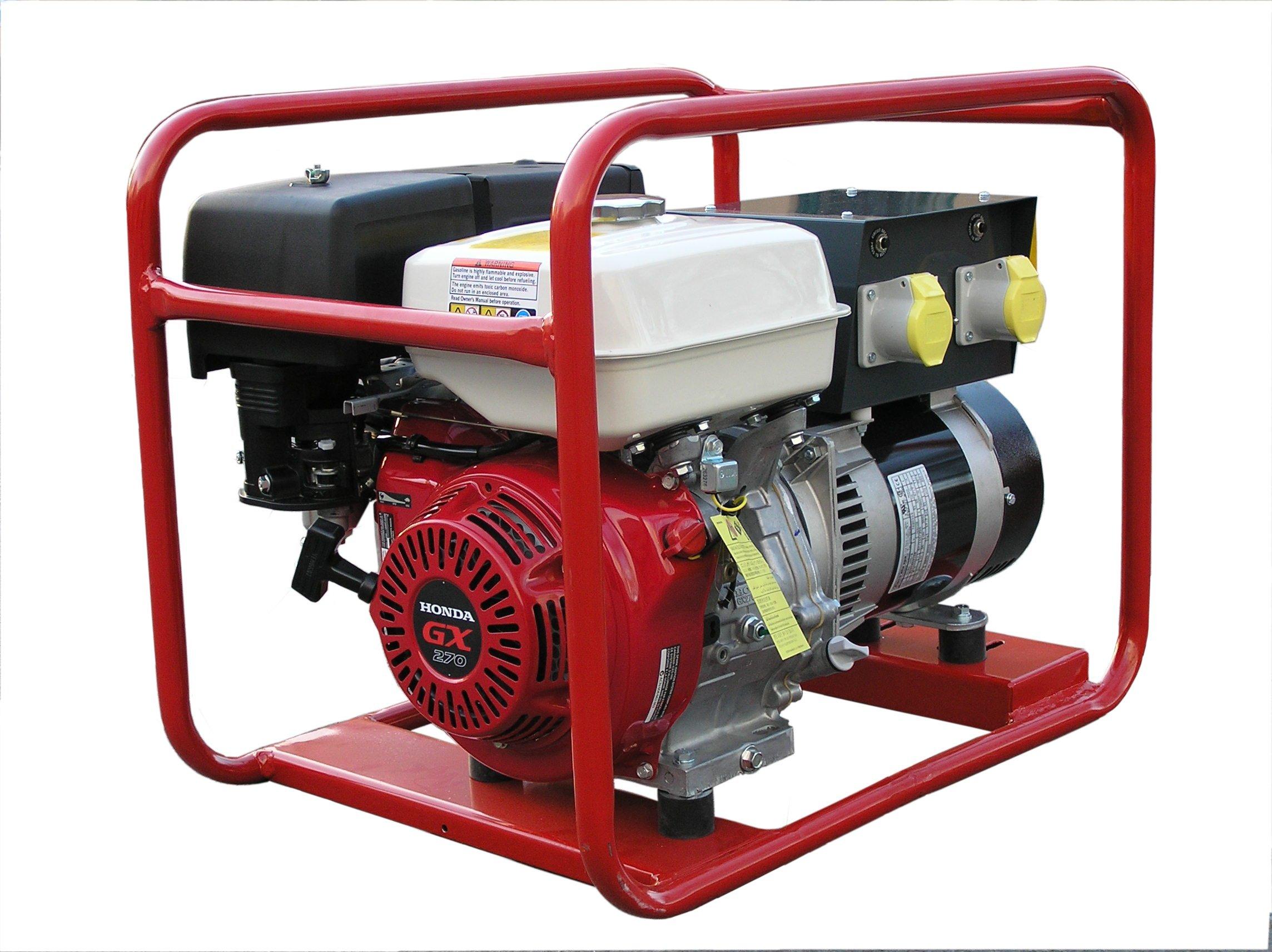 4kW 5 0kVA GX270 Honda Powered Petrol Generator 4kW 5 0kVA