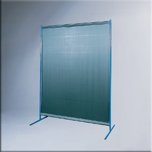 1-Panel Mobile Protective Screen with Curtain Dark Green